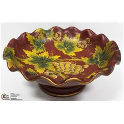 NEW RED EFFENDI  ACCENTS TABLE CENTER PIECE BOWL