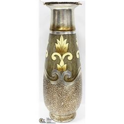 """TEXTURED VASE, SILVER AND GOLD 21"""""""