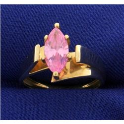 Brilliant Pink Topaz Ring
