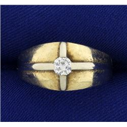 Vintage .3 ct Men's Diamond Ring