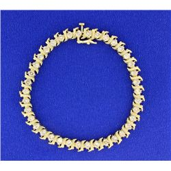 4ct TW Champagne Diamond Tennis Bracelet