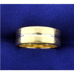 14K Yellow & White Gold Band