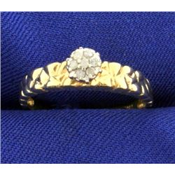 Diamond Nugget Style Ring