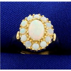 Natural Opal Ring in 14k Yellow Gold