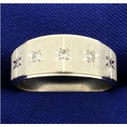 Men's Diamond Band Ring in 14k White Gold