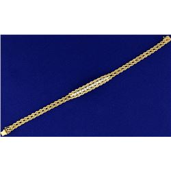 Rope Style Diamond Bracelet in 14k Gold