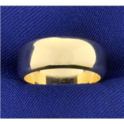 Women's Wide Wedding Band Ring in 14k Yellow Gold