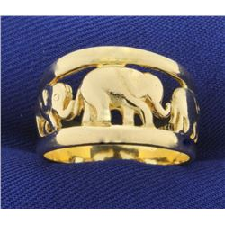 Elephant Ring in 18k Gold
