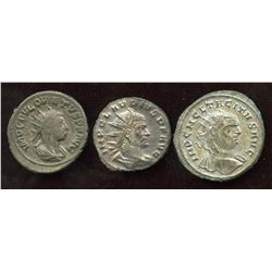 3rd Century Emperor Lot. Billon Antoninianus (3 Pcs)