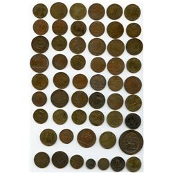 Lot of 66 French jetons,