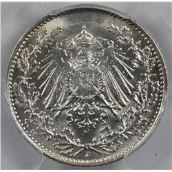 Germany Empire 1906-J 1/2 Mark