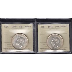 1940 & 1941 Fifty Cents