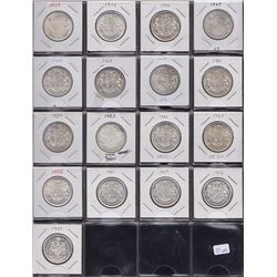 Canadian Lot of Fifty Cents and Silver Dollars