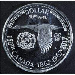 1967 Silver Dollar with Counterstikes