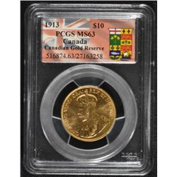 1913 Canadian Gold Reserve $10
