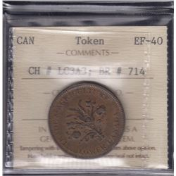 BR 714. Trade & Agriculture Lower Canada Token