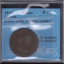 BR 983. Success to Trade, Commerce Rules the Main ½ penny, 1816.