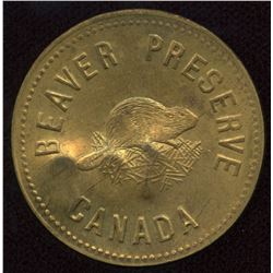 Hudson's Bay Company - Beaver Preserve Token in Brass Number 108.