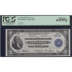 USA - Federal Reserve Bank Note New York $2, 1918