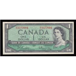 Bank of Canada $1, 1954 Mismatch Serial Numbers