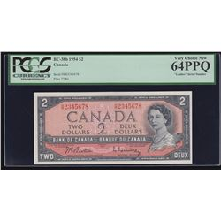 Bank of Canada $2, 1954 Consecutive Ascending Ladder
