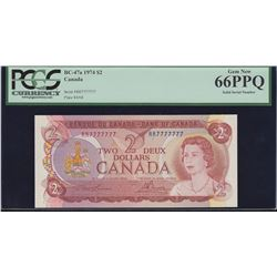 Bank of Canada $2, 1974 Solid Serial Number