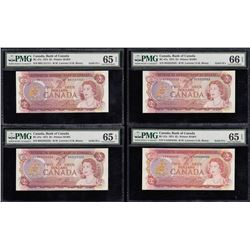 Bank of Canada $2, 1974 Solid Serial Numbered Set
