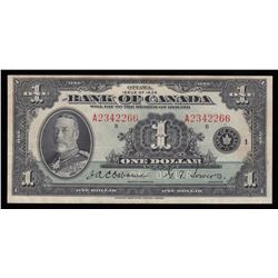 Bank of Canada $1, 1935