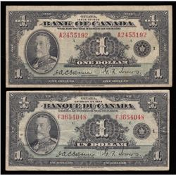 Bank of Canada $1, 1935 French and English Issue