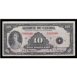 Bank of Canada $10, 1935 French Issue
