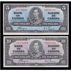 Bank of Canada $5 & $10, 1937