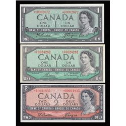 Bank of Canada $1 & $2, 1954 Replacement Notes
