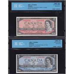 Bank of Canada $2 & $5, 1954 Replacement Notes