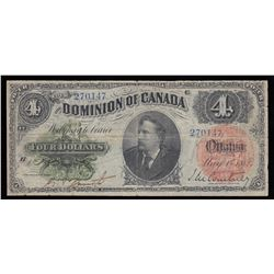 Dominion of Canada $4, 1882