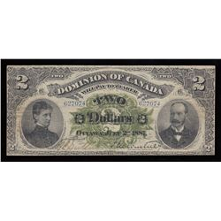 Dominion of Canada $2, 1887