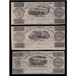 Champlain & St. Lawrence Railroad, 1837 Set