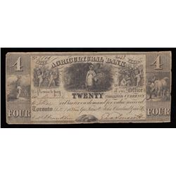 New Discovery - Two Sheet Numbers - Agricultural Bank $4, 1835
