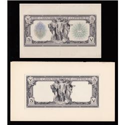 Canadian Bank of Commerce $5, 1917 - Lot of 2