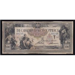 Canadian Bank of Commerce $100, 1917