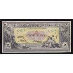 Canadian Bank of Commerce $20, 1917