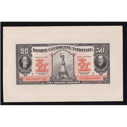 Banque Canadienne Nationale $50, 1929