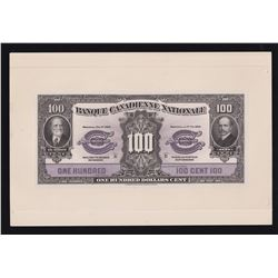 Banque Canadienne Nationale $100, 1929