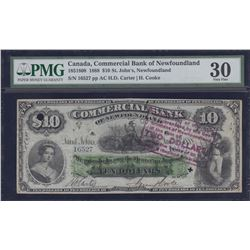 Commercial Bank of Newfoundland $10, 1888