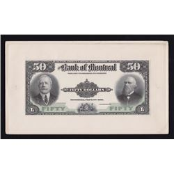 Bank of Montreal $50, 1912