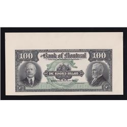 Bank of Montreal $100, 1912