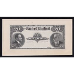 Bank of Montreal $20, 1914