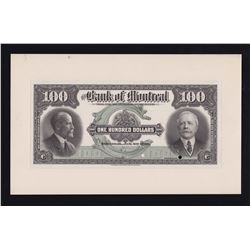 Bank of Montreal $100, 1923