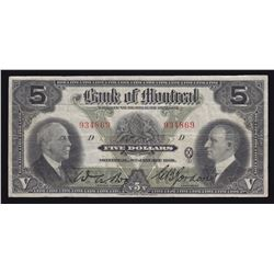 Bank of Montreal $5, 1931