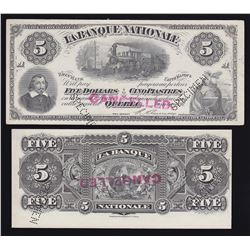 Banque Nationale $5, 1897