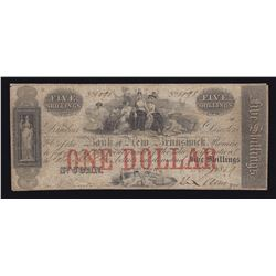 Bank of New Brunswick Five Shillings, 1859